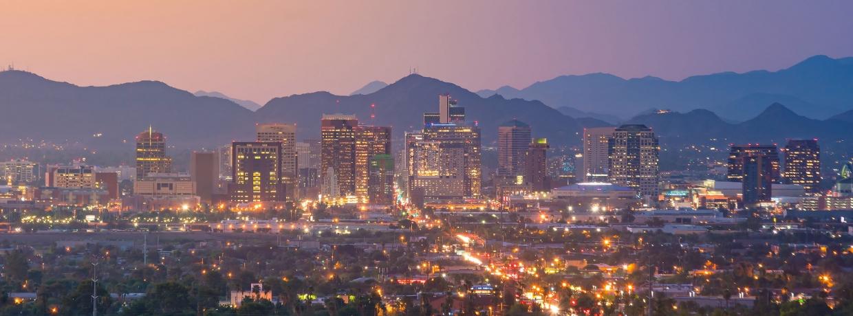 Phoenix Skyline at dusk